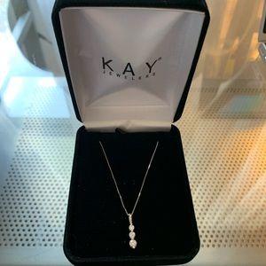 Kay Jewelers White Gold Diamond Necklace-Like New
